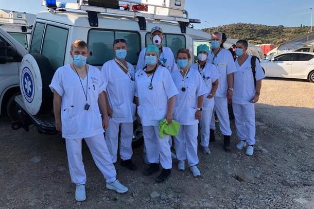 Ansatte fra Nordlandssykehuset i Lesvos
