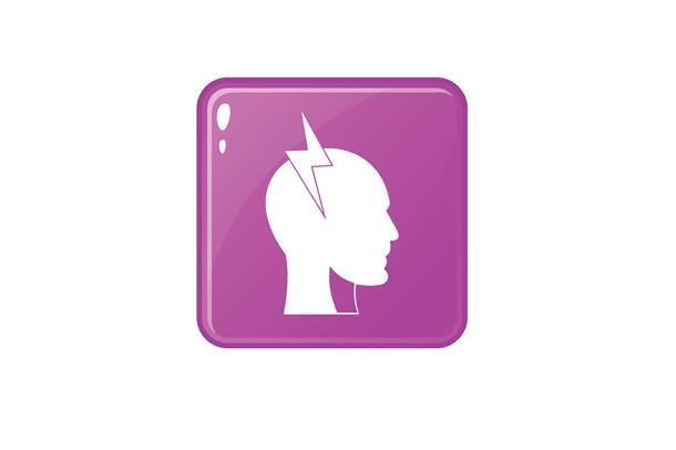 Siluett av et tegnet hode i profil
